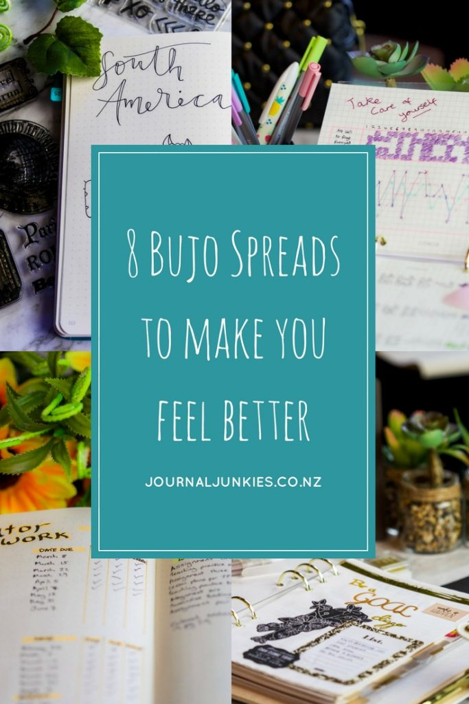 8 Bujo Spreads to make you feel better