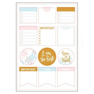 Grand Plans Planner Stickers Sheet 2