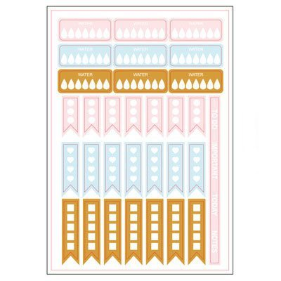 Grand Plans Planner Stickers Sheet 1