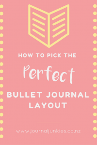 How to pick the perfect bullet journal layout