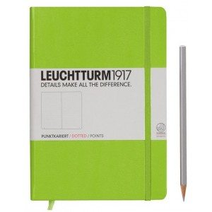 Leuchtturm1917 Medium Dotted Notebook Lime Green NZ