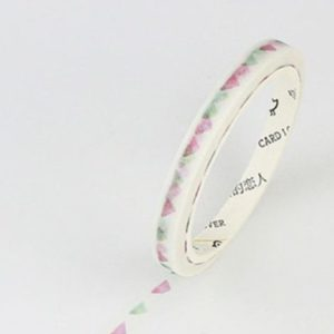 Pink and green bunting Thin Washi Tape NZ