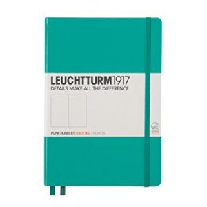Leuchtturm 1917 Medium Dotted Notebook Emerald Green NZ