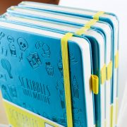 Scribbles That Matter Dotted Notebook Stack of teal