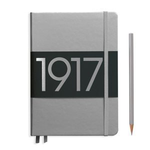 Leuchtturm 1917 Bullet Journal Medium Dotted Notebook Special Edition Silver