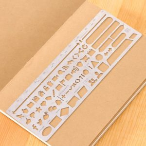 JJ-A-134 attention ruler metal planner stencil nz bullet journal 2