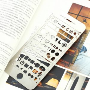 JJ-A-133 mobile icons metal planner stencil nz bullet journal book
