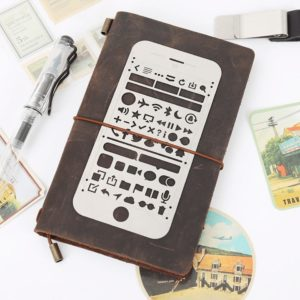 JJ-A-133 mobile icons metal planner stencil nz bullet journal 2