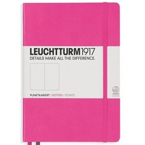 Leuchtturm1917 A5 Dotted Notebook NZ Bright Pink bullet journal nz