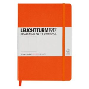 Leuchtturm 1917 Medium Dotted Notebook Orange
