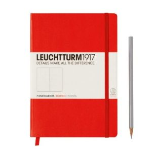 Leuchtturm 1917 Medium Dotted Notebook Red