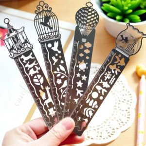 3-in-1 metal ruler bookmark stencil Bullet Journal