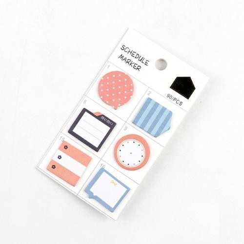 Schedule Marker Planner Stickers Peach and Blue
