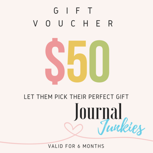 $50 journal junkies gift voucher