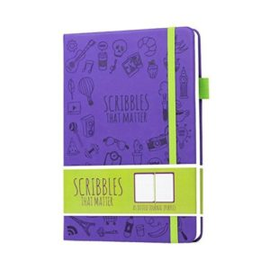 Scribbles That Matter Dotted Notebook Iconic Version Purple