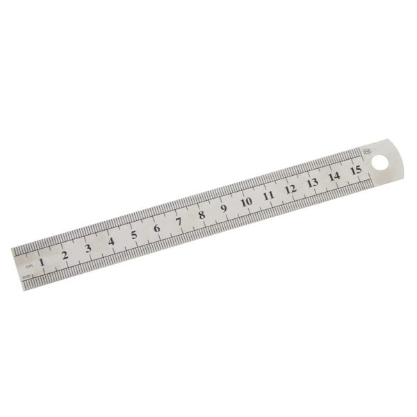 15cm Sewing Foot Stainless Steel Metal Straight Ruler Tool Precision Double Sided Measuring Tool
