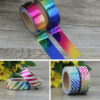 Rainbow Foil Metallic Collection Feature washi tape nz