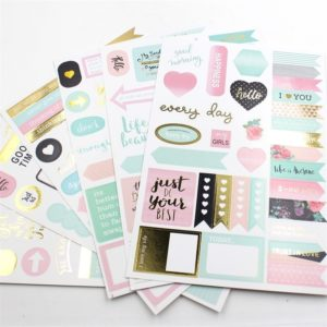 life is a beautiful journal pink gold mint planner stickers nz