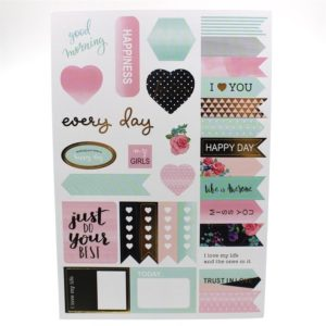 life is a beautiful journal pink gold mint planner stickers nz 7