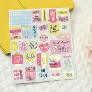 Grand Plans Peach & Purple Planner Stickers | 5 Sheets 4