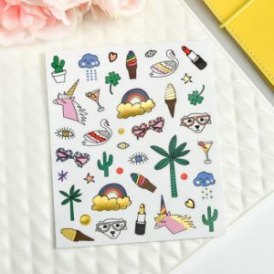 Grand Plans Peach & Purple Planner Stickers   5 Sheets 2