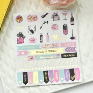 Grand Plans Peach & Purple Planner Stickers | 5 Sheets 1