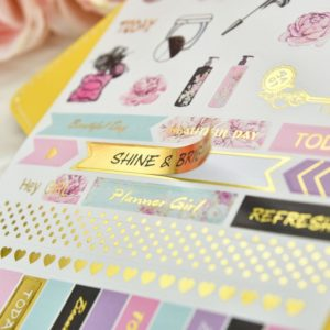 Grand Plans Peach & Purple Planner Stickers | 5 Sheets 2