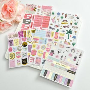 Grand Plans Peach & Purple Planner Stickers | 5 Sheets
