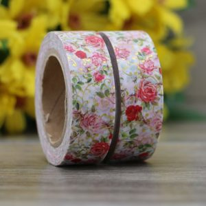 Medium Washi tape NZ Roses and Gold