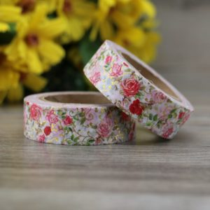 Medium Washi tape nz roses and gold 3