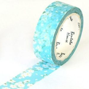 Medium washi Tape nz main Blue & White blosson