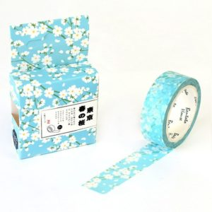 Medium washi Tape NZ Blue & White blossom