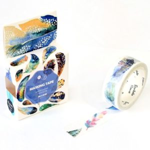 Medium washi Tape NZ Watercolour Feathers