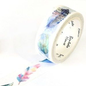 Medium washi Tape NZ main pic Watercolour Feathers