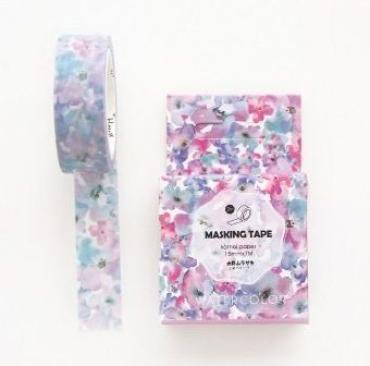 Medium washi Tape nz Watercolour Flowers