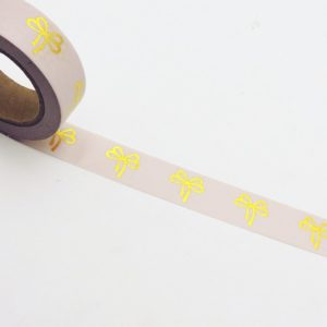 Pink Foil Medium Washi Tape NZ Bows