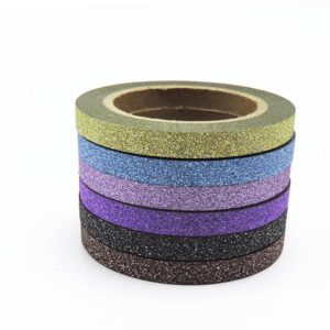 Thin Glitter Washi Tape NZ 6 piece set 2