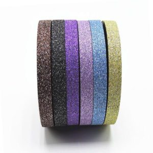 Thin Glitter Washi Tape NZ 6 piece set 4