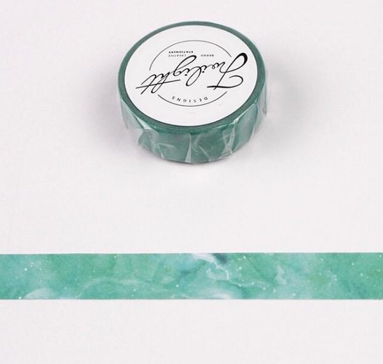 Medium Washi tape nz Green marble