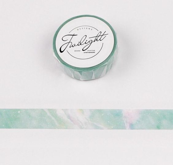 Medium Washi tape NZ Mint Marble