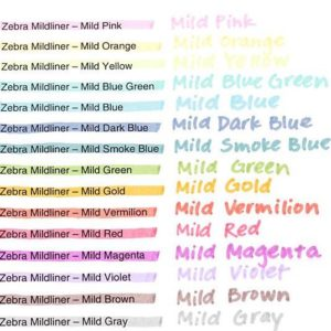 zebra mildliners nz all colours packs colour pallets