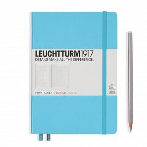 NEW Leuchtturm1917 Dotted Medium Notebook NZ Ice Blue