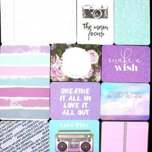 Bullet Journal Cards scrapbooking prompts NZ Purple & Mint