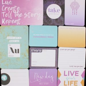 Bullet Journal Cards NZ Scrapbooking supplies Purple & Mint 2