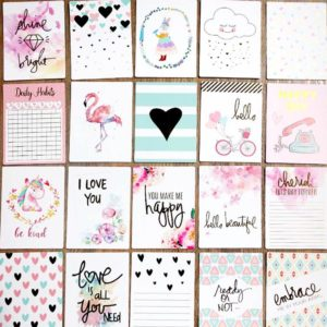 Journal Cards Bullet Journalling NZ Scrapbooking supplies Watercolour
