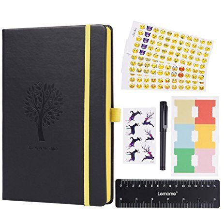Lemome dotted notebook bullet journal nz Black