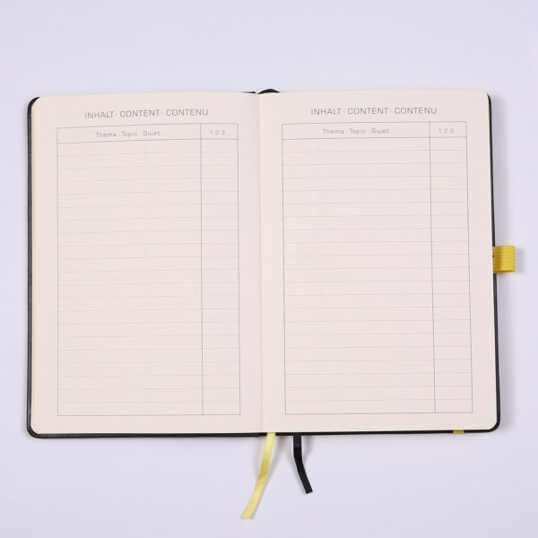 Lemome Bullet Journal Dotted Notebook NZ Yellow index