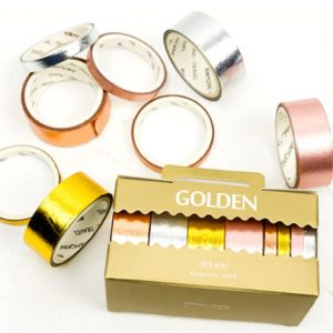 Metallic Washi Tape NZ Foil Pack