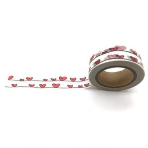 Medium Washi Tape NZ Heart Lines