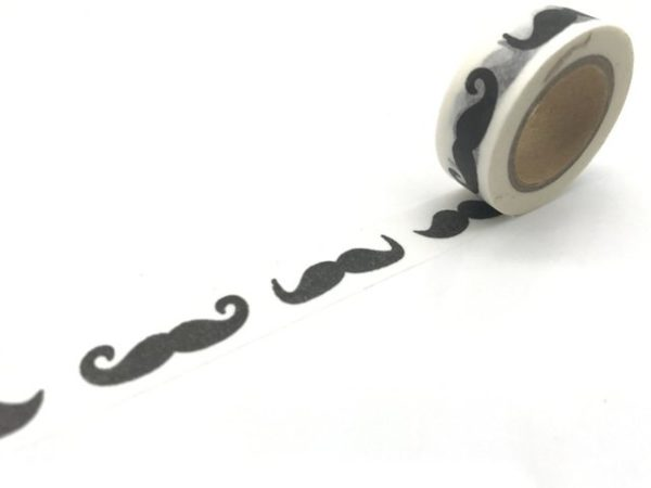 Medium Washi Tape NZ MoustachioedMedium Washi Tape NZ Moustachioed
